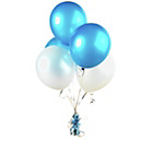 more details on Blue and White Latex Helium Balloon Kit.