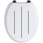 more details on Premier Housewares White Toilet Seat with Diamante Detail.