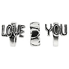 more details on Sterling Silver Love You Beads - Set of 3.