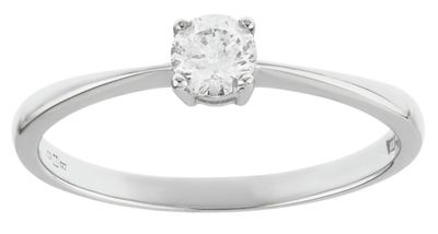 9ct White Gold 025ct Diamond Solitaire Ring