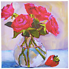 more details on Heart of House Vase of Roses Canvas.
