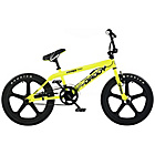 more details on Rooster Big Daddy Yellow and Black BMX with Mag Wheels.