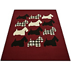 more details on Melrose Scottie Dog Rug - 120x170cm - Red.