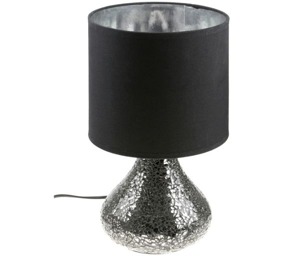 buy opulence mosaic base table lamp with black shade at. Black Bedroom Furniture Sets. Home Design Ideas