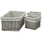 more details on Premier Housewares Mesa Set of 3 Willow Storage Baskets.