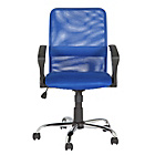 more details on Mid-Back Gas Lift Mesh Chair - Blue