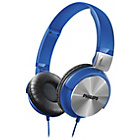more details on Philips SHL3160 DJ Style On-Ear Heaphones - Blue.