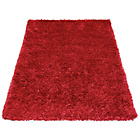 more details on Ribbon Shaggy Rug - 60x110cm - Red.