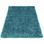 more details on Melrose Ribbon Shaggy Rug - 60x110cm - Teal.