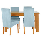 more details on Heart of House Hastings Ext Table & 4 Duck Egg Chairs.