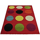 more details on Colpop Circles Rug - 120x170cm - Red.
