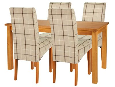 Buy HOME Lincoln Dining Table and 4 Chairs Oak Effect  : 4249960RSETTMBampwid620amphei620 from www.argos.co.uk size 620 x 620 jpeg 39kB