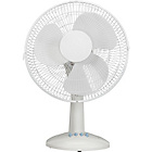 more details on Challenge White Oscillating Desk Fan - 12 Inch.
