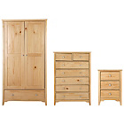 more details on Grafton 3 Piece 2 Door Wardrobe Package - Oak Effect.