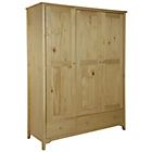 more details on Collection Grafton 3 Dr 2 Drw Wardrobe Solid Pine-Oak Stain.