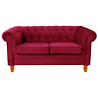 more details on Chesterfield Regular Fabric Sofa - Red.