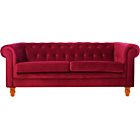 more details on Chesterfield Large Fabric Sofa - Red.
