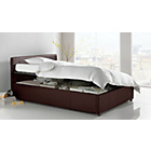 more details on Hygena Harcourt Single Ottoman Bed Frame - Chocolate.