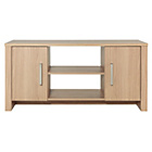 more details on HOME Bailey 2 Door Low Sideboard/TV Unit - Oak Effect.