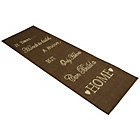 more details on Melrose County Home Script Rug - 80x150cm - Chocolate.