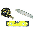 more details on Stanley Knife, Tape and Spirit Level Kit.