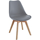 more details on Habitat Jerry Pair of Dining Chairs - Grey.