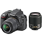 more details on Nikon D3300 DSLR Camera with 18-55mm & 55-200mm Lens.