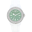 more details on Identity Stone Set Mint Dial White- Silic