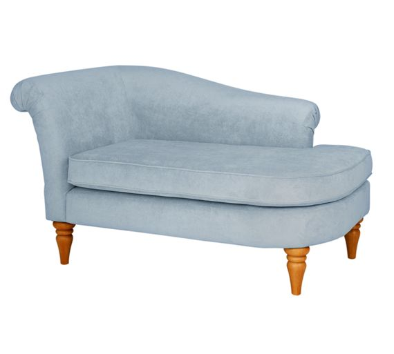 Buy heart of house castilla fabric chaise longue blue for Argos chaise longue sofa bed