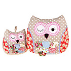more details on Country Baskets Flora Owl Cushion and Door Stop Set.