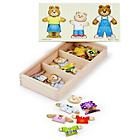 more details on Melissa and Doug Wooden Bear Family Dress-up Puzzle.