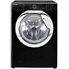 more details on Hoover DXCC48B3 8KG 1400 Washing Machine- Black/Ins/Del/Rec.