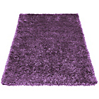 more details on Melrose Ribbon Shaggy Rug - 80x150cm - Purple.