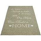 more details on Melrose County Home Script Rug - 80x150cm - Taupe.