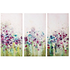 more details on Graham & Brown Watercolour Meadow Triptych Canvas - Set of 3