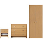 more details on Seville 3 Piece 2 Door Wardrobe Package - Beech.