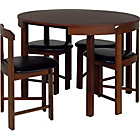 more details on Hygena Alena Wood Stain Circular Dining Table and 4 Chairs.