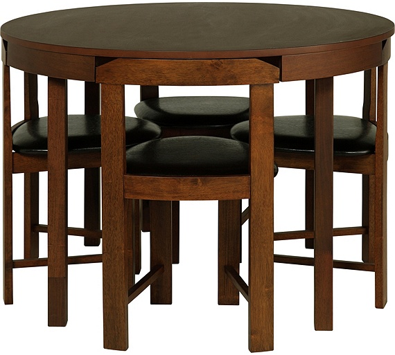 Argos Hygena Dining Table And Chairs: Buy Hygena Alena Solid Walnut Circular Dining Table & 4