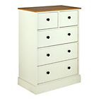 more details on Collection Kensington 3+2 Drawer Chest-Oak Effect and White.