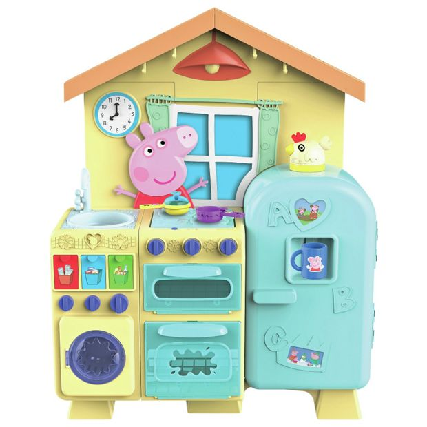 Buy peppa pig house kitchen at your online for Kitchen set argos