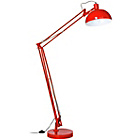 more details on Red Metal Adjustable Floor Lamp.