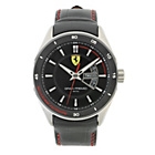 more details on Scuderia Ferrari Mens' Gran Premio Black Strap Watch.