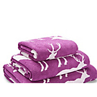 more details on Stag Jacquared Towel Bale - Mulberry.
