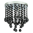 more details on Beaded Droplet 3 Light Flush Ceiling Fitting - Black.