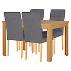 more details on Collection Adaline Ext Dining Table & 4 Chairs - Oak Effect.