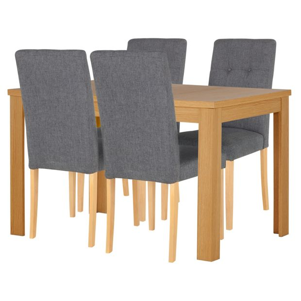 Buy Collection Adaline Ext Dining Table 4 Chairs Oak Effect At Argos