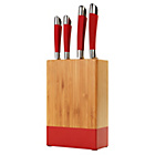 more details on ColourMatch 4 Piece Knife Block Set - Poppy Red.