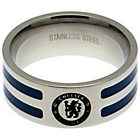 more details on Stainless Steel Chelsea Striped Ring - Size U.