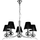 more details on 5 Arm Pendant Light with Black Shades.