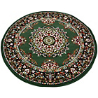 more details on Melrose Maestro Traditional Rug - 120x120cm - Green.